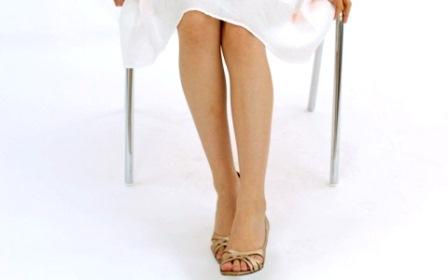 綺麗な足を強調させる